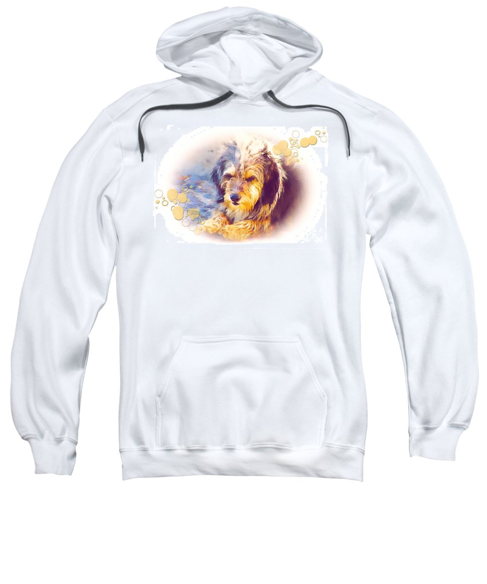Graphics Sweatshirt featuring the mixed media A 001 by Marek Lutek
