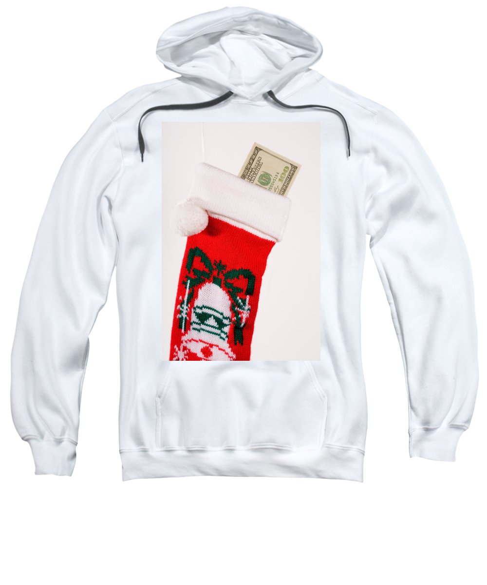 Surprise Sweatshirt featuring the photograph A Gift From Santa by Diane Macdonald