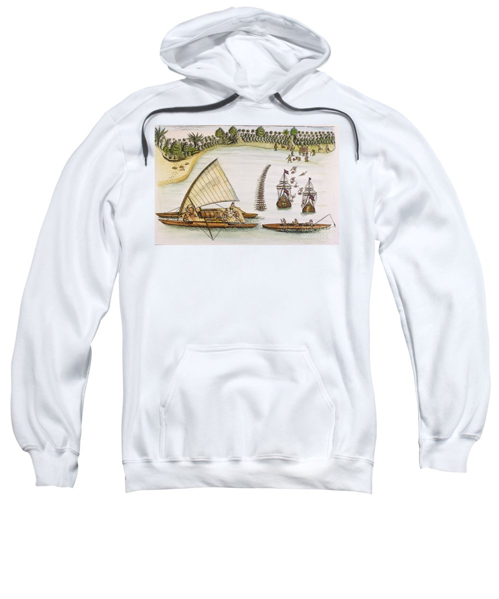 1643 Sweatshirt featuring the photograph Abel Tasman Expedition 1643 by Granger
