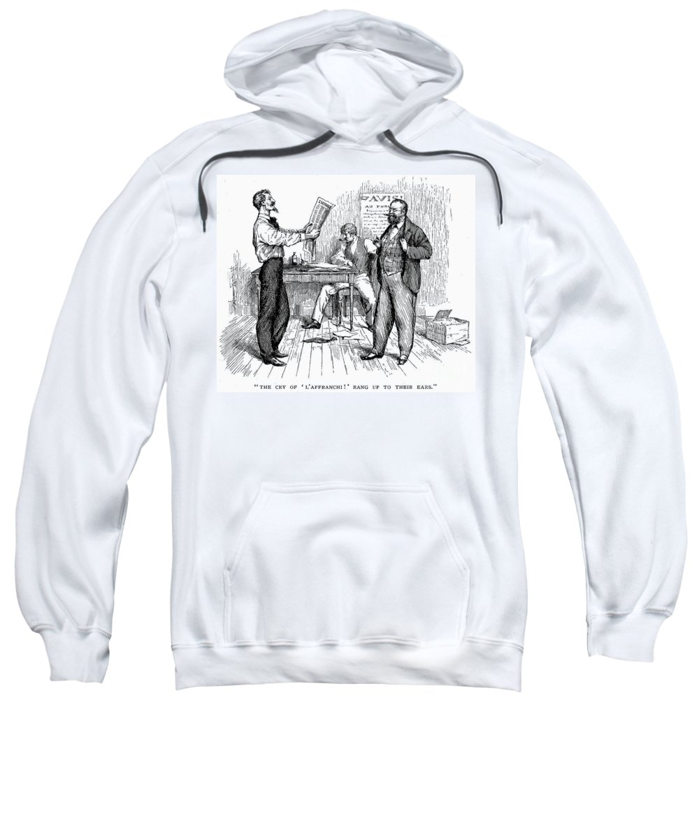 1850s Sweatshirt featuring the photograph Abolitionist Newspaper by Granger