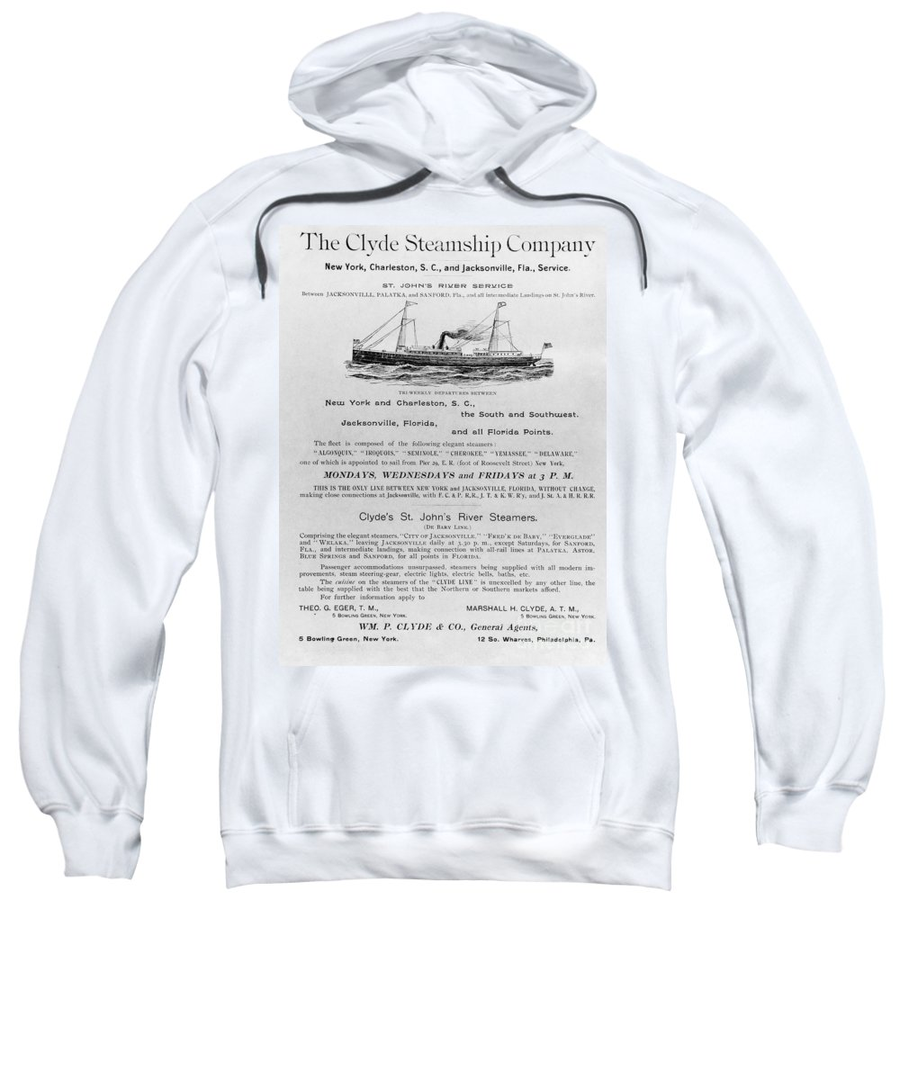 1851 Sweatshirt featuring the photograph Advertisement: Steamship by Granger