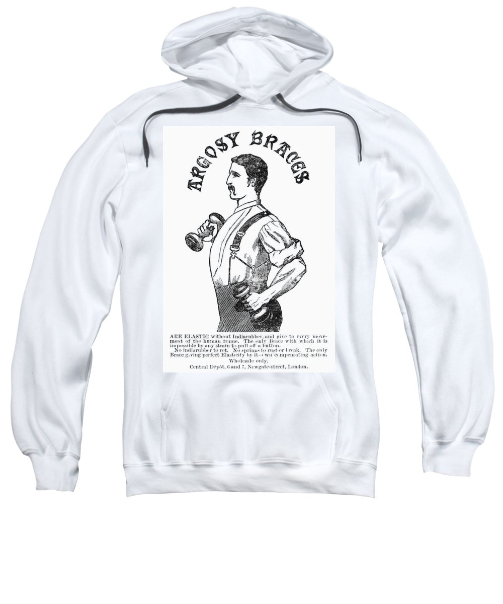 1883 Sweatshirt featuring the photograph Advertisement: Suspenders by Granger