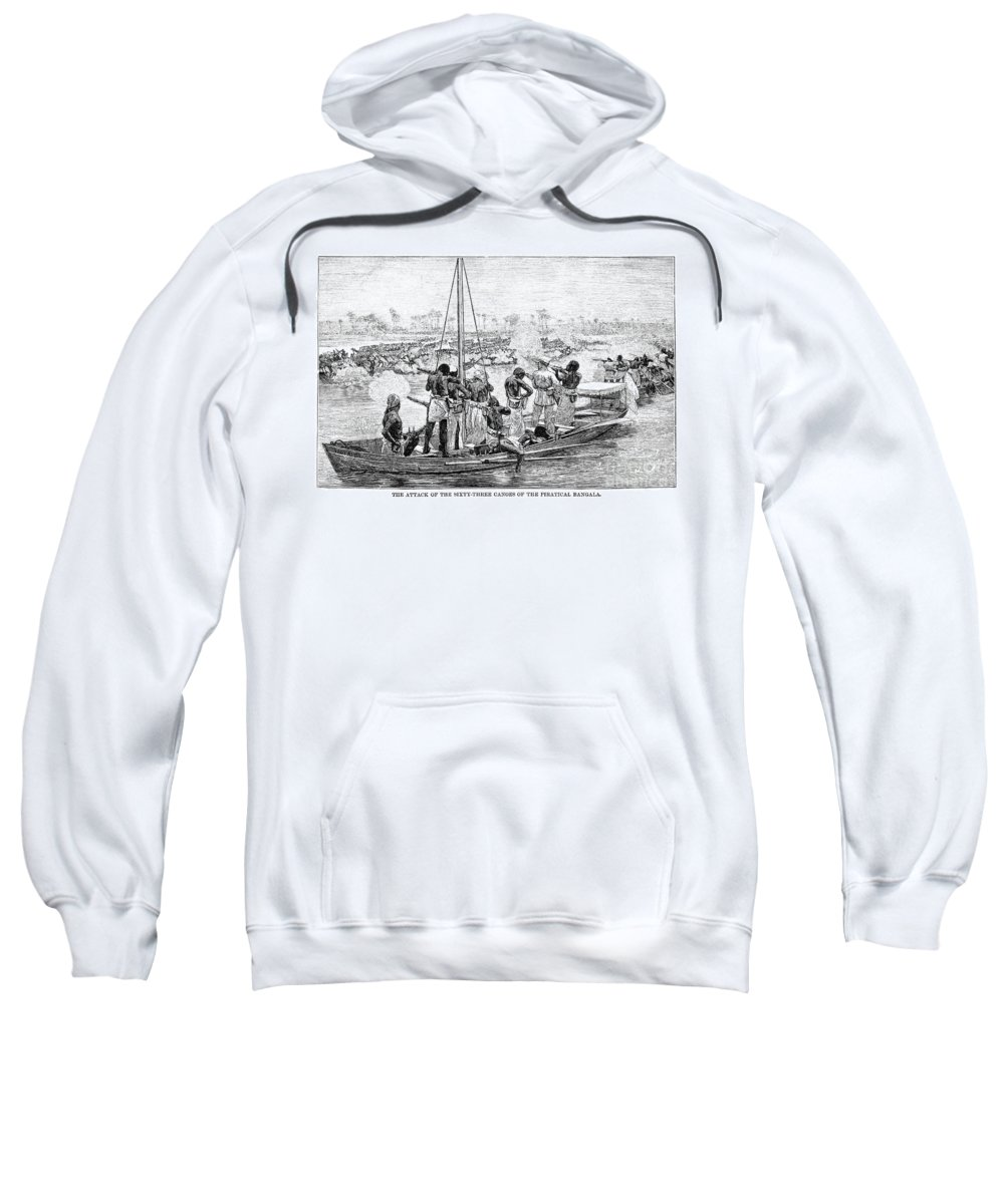 1879 Sweatshirt featuring the photograph Africa: Pirates by Granger