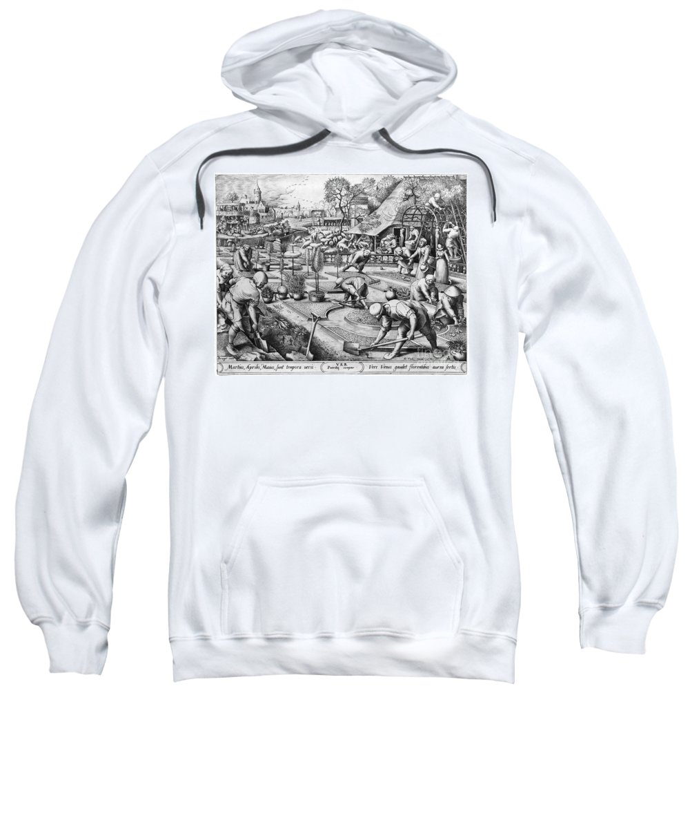 1555 Sweatshirt featuring the photograph Agriculture: Spring, C1555 by Granger