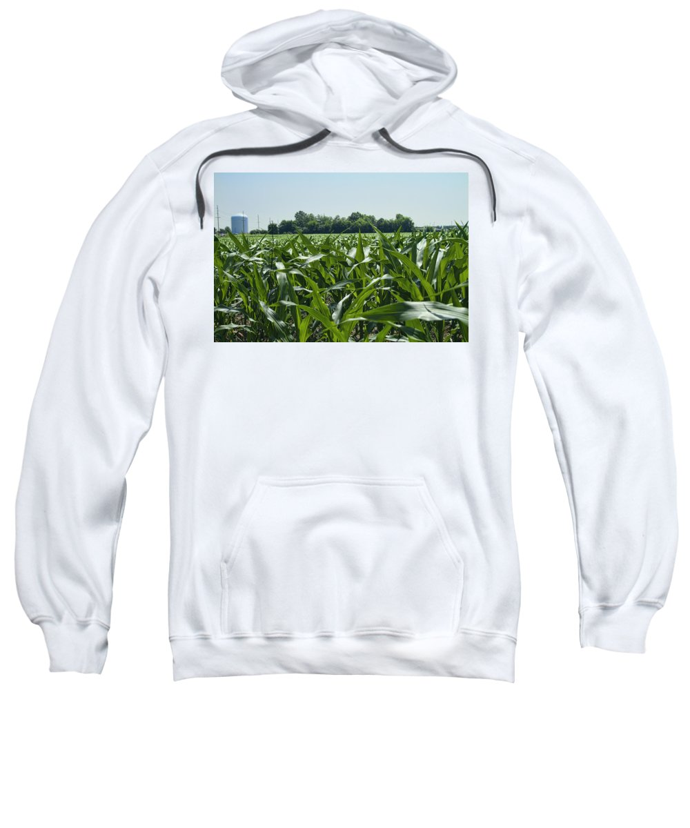 Corn Sweatshirt featuring the photograph Alabama Field Corn Crop by Kathy Clark