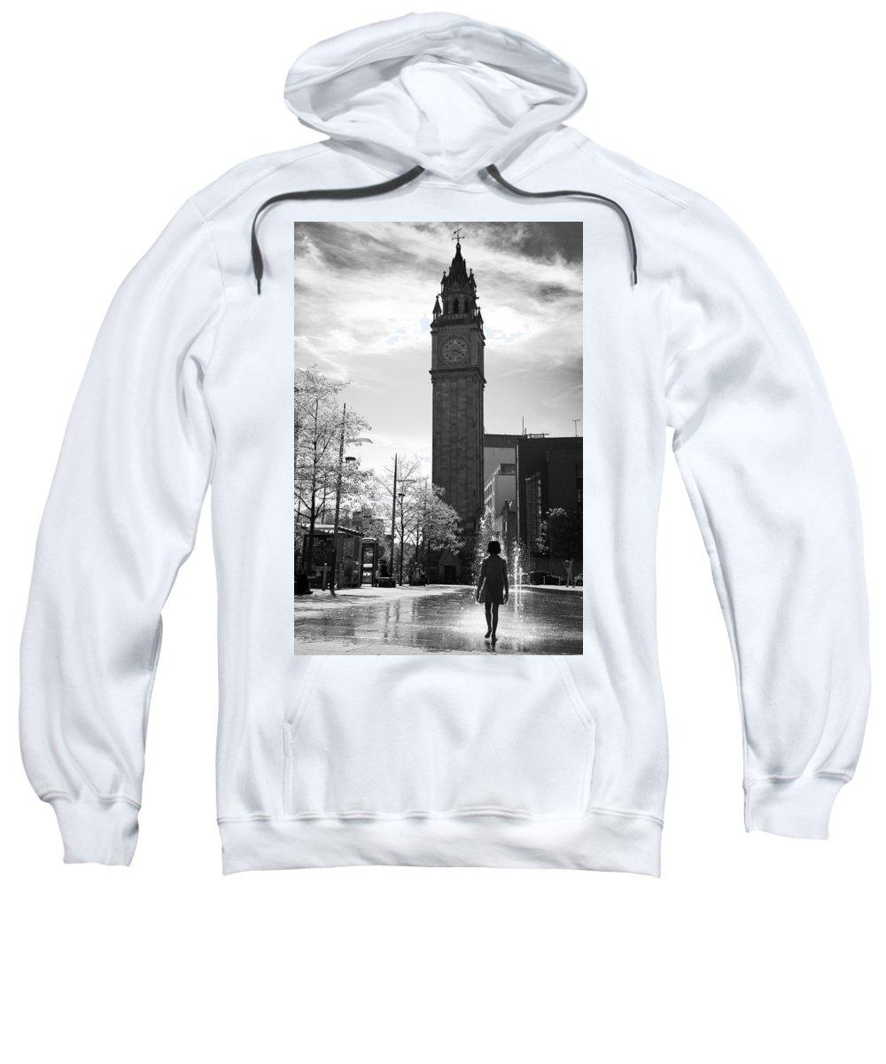 Belfast Sweatshirt featuring the photograph Albert Clock Belfast by George Pennock