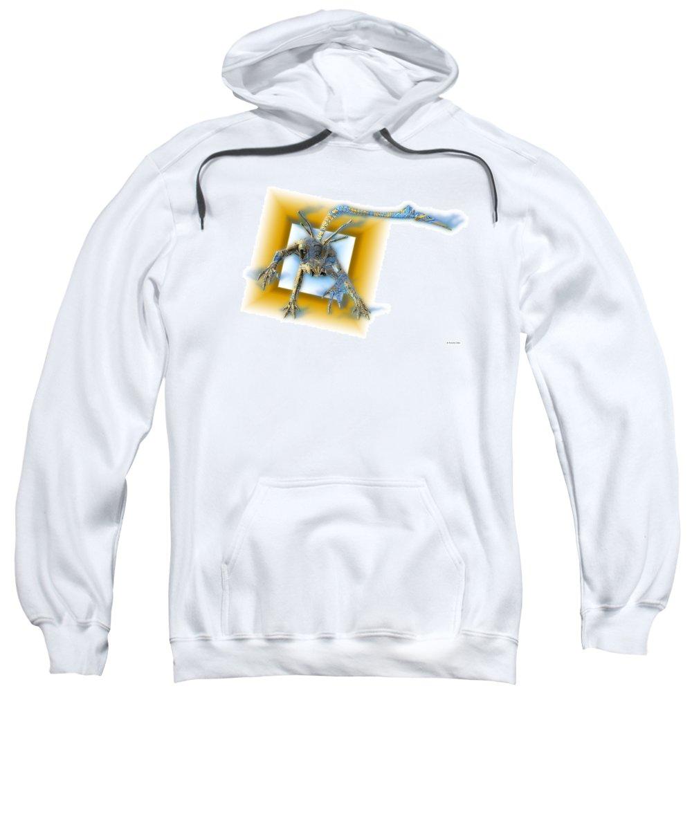 Alien Sweatshirt featuring the digital art Aleen by Nandor Volovo