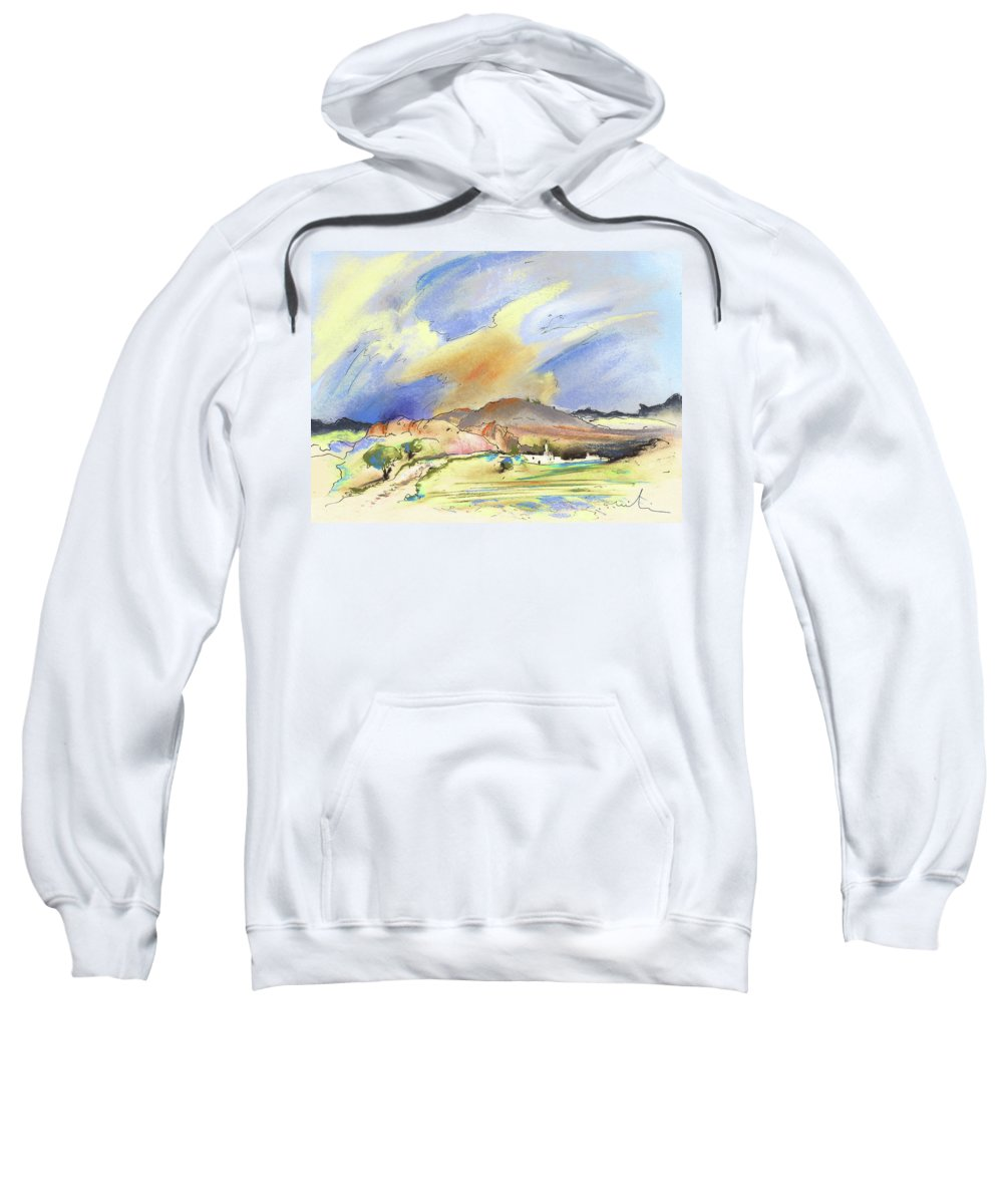 Landscapes Sweatshirt featuring the painting Almeria Region In Spain 01 by Miki De Goodaboom