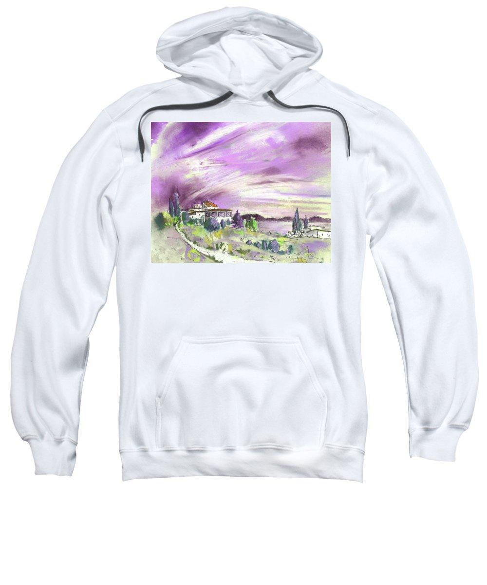 Spain Sweatshirt featuring the painting Almeria Region In Spain 05 by Miki De Goodaboom