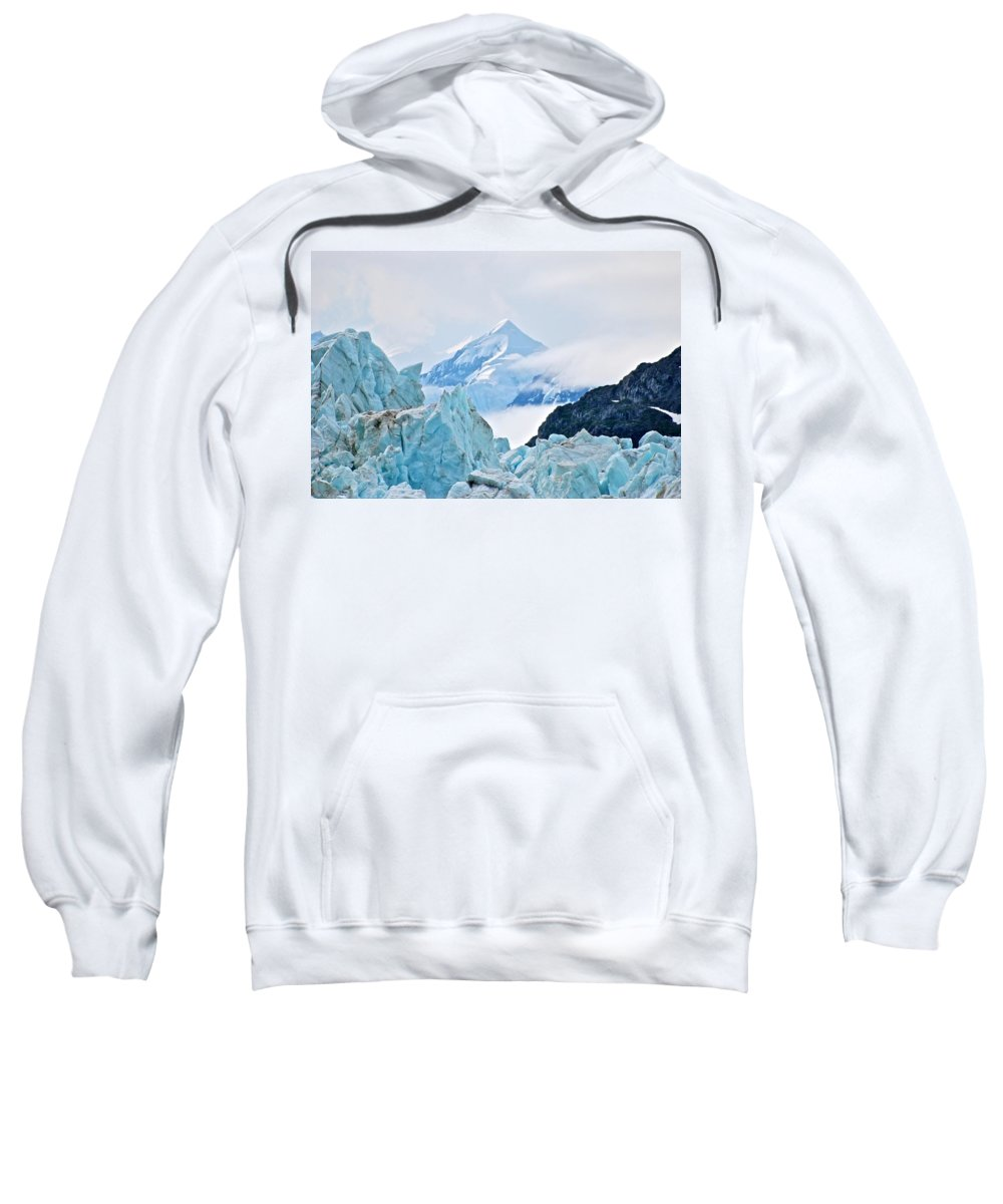 Glacier Sweatshirt featuring the photograph Alpha And Omega by Eric Tressler