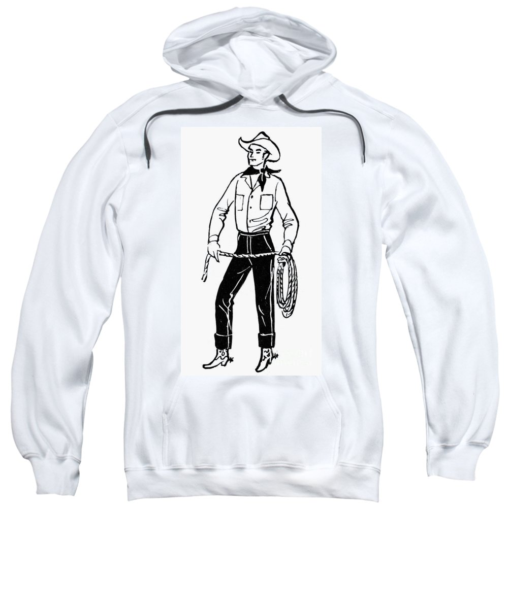 19th Century Sweatshirt featuring the photograph American Cowboy by Granger