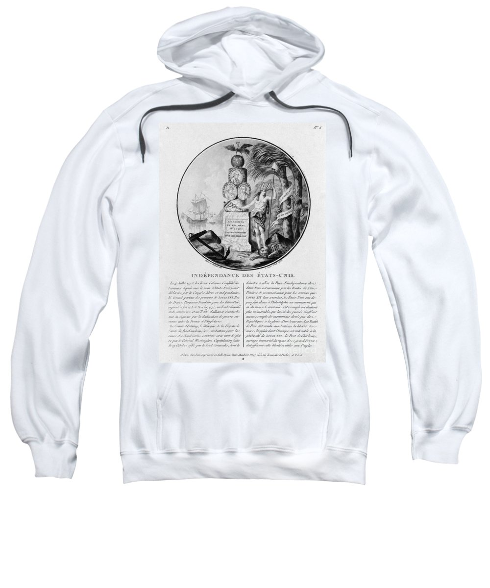 1786 Sweatshirt featuring the photograph American Independence by Granger