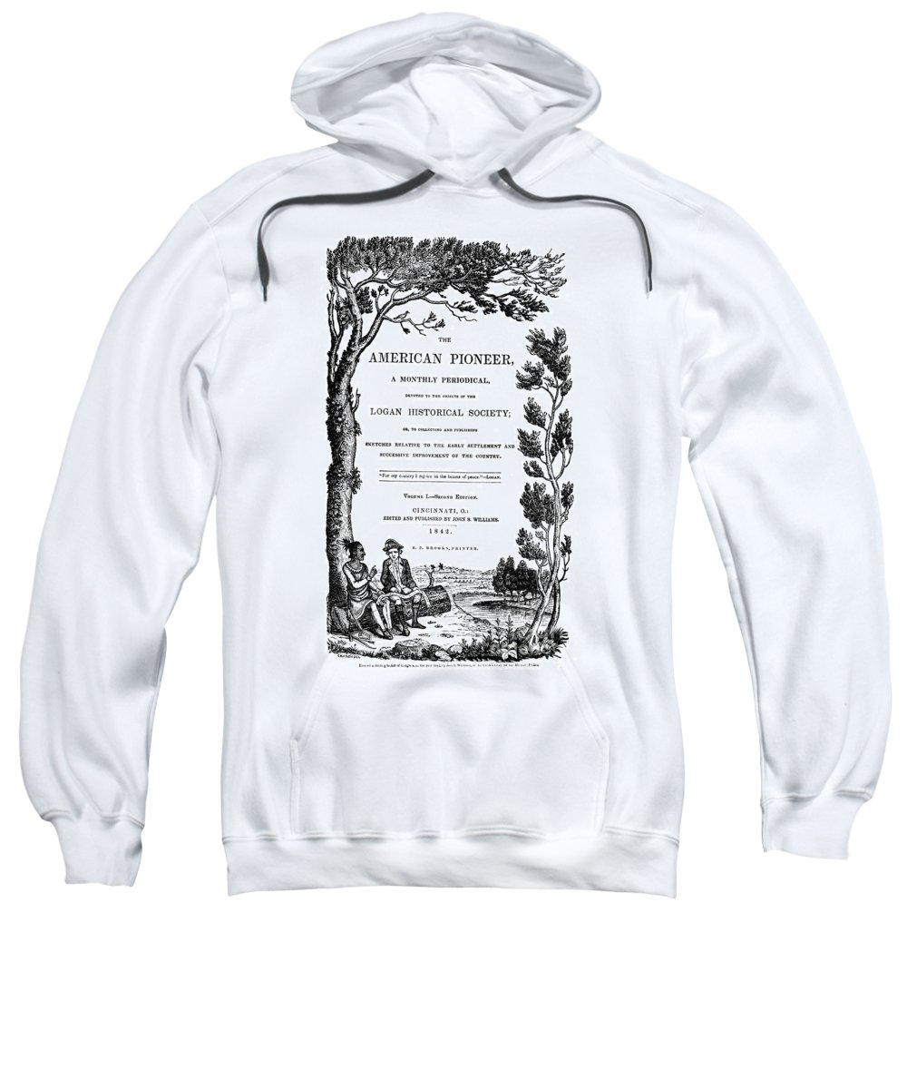 1842 Sweatshirt featuring the photograph American Pioneer, 1842 by Granger