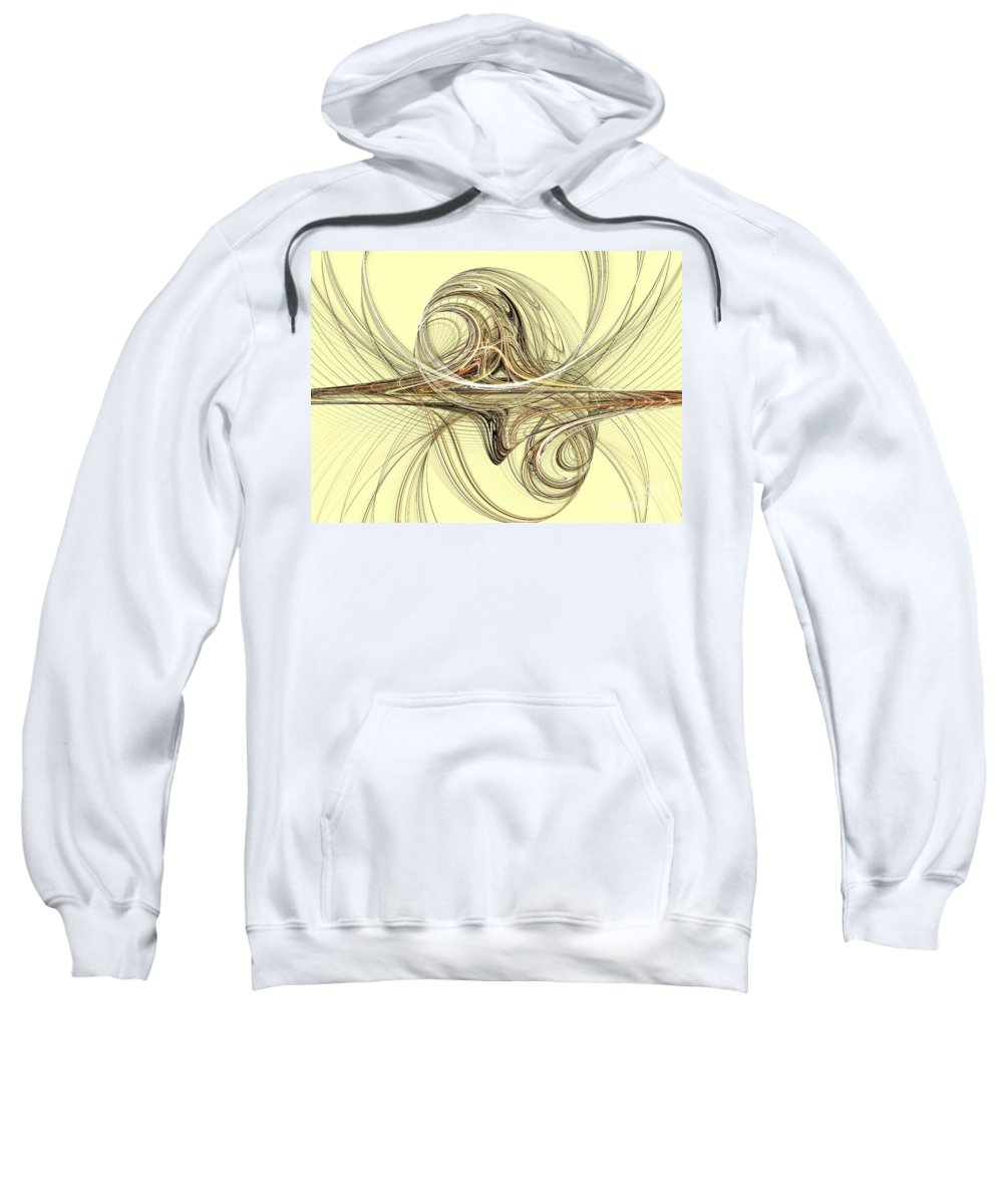 Apophysis Sweatshirt featuring the digital art Andromeda by Kim Sy Ok