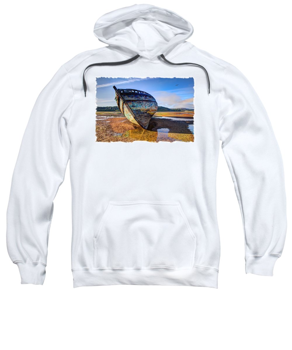 Wreck Sweatshirt featuring the photograph Anglesey Shipwreck by Mal Bray