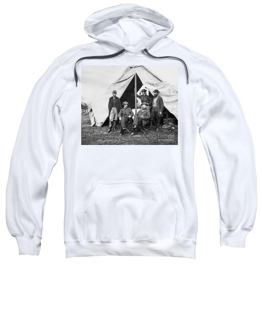 1862 Sweatshirt featuring the photograph Antietam: Officials, 1862 by Granger