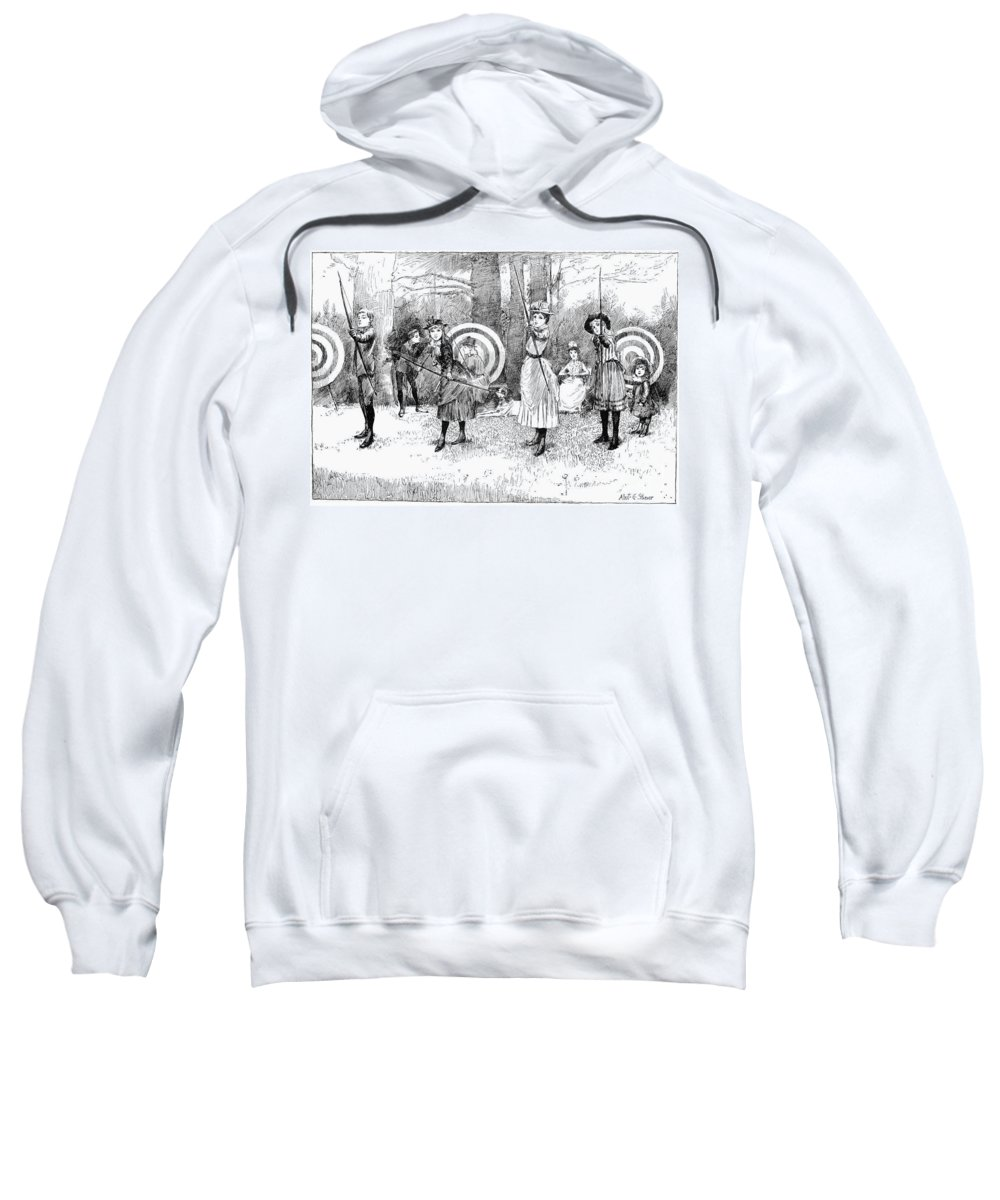 1886 Sweatshirt featuring the photograph Archery, 1886 by Granger