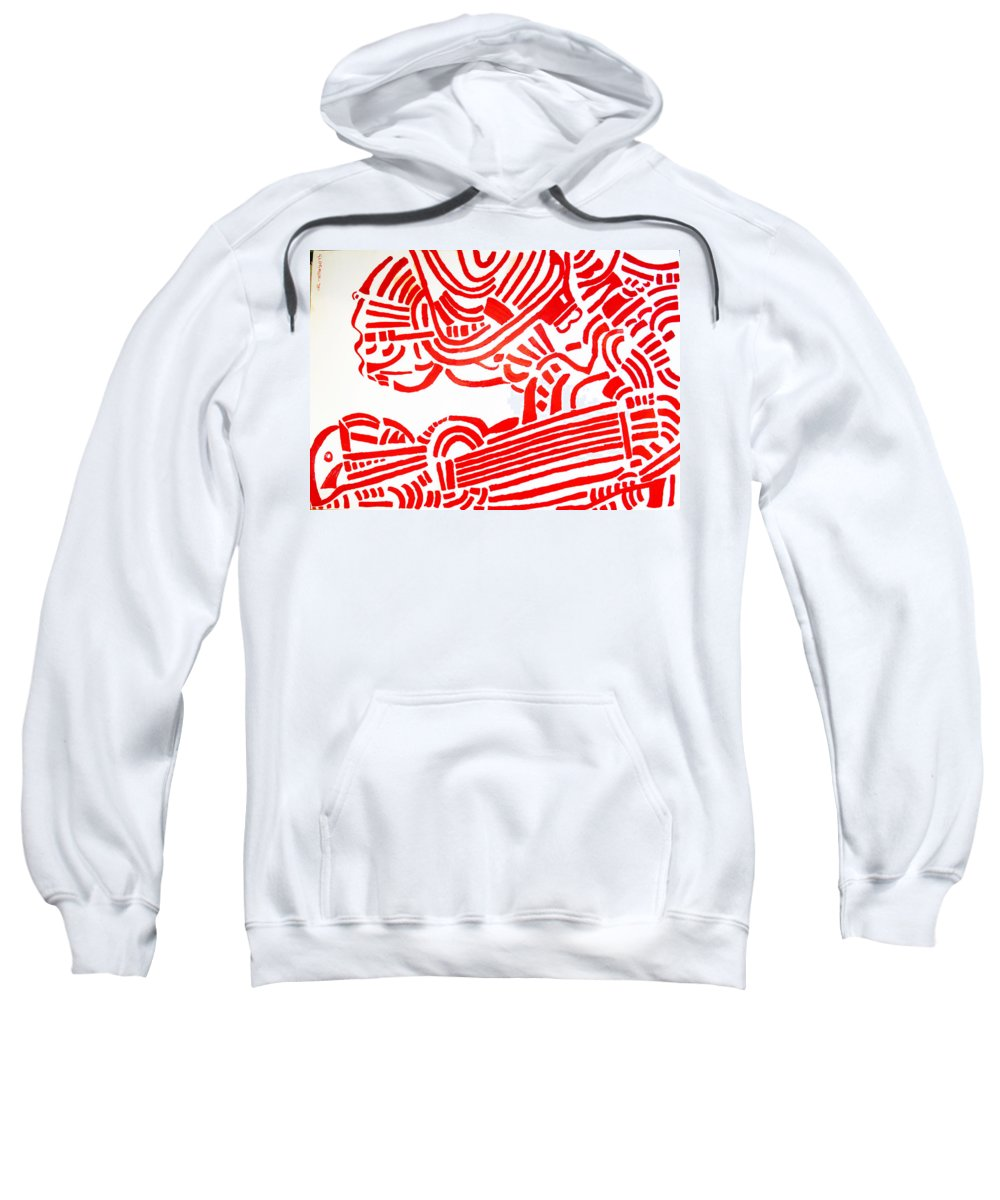 Jesus Sweatshirt featuring the painting Arise Les Paul by Gloria Ssali
