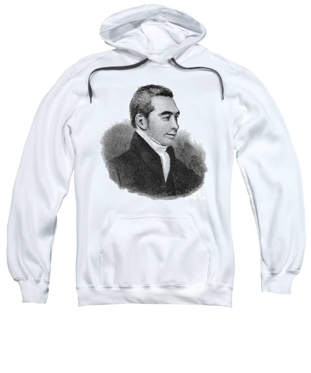 1824 Sweatshirt featuring the photograph Arnold Buffum (1782-1859) by Granger