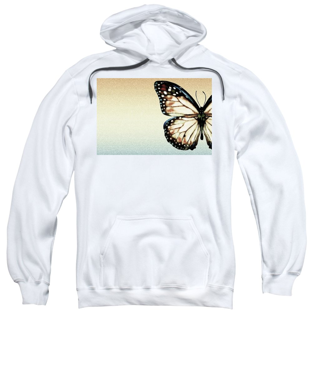 Animals Sweatshirt featuring the photograph Artistic Butterfly by Chris Knorr