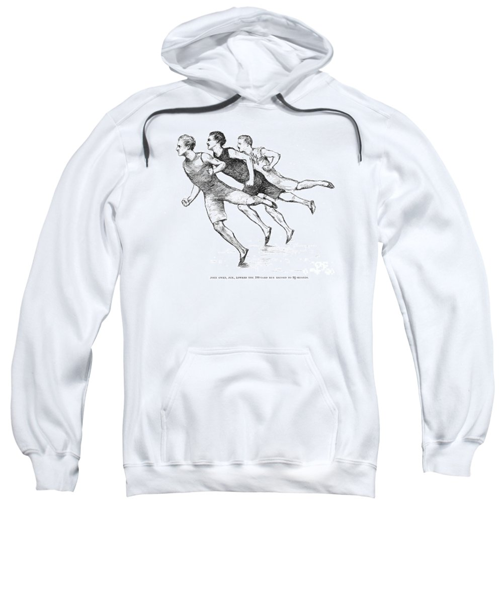 1890 Sweatshirt featuring the photograph Athletics: Track, 1890 by Granger
