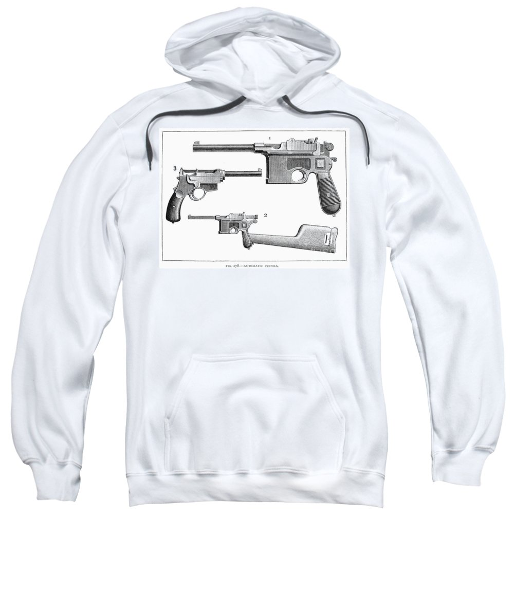 19th Century Sweatshirt featuring the photograph Automatic Pistols by Granger