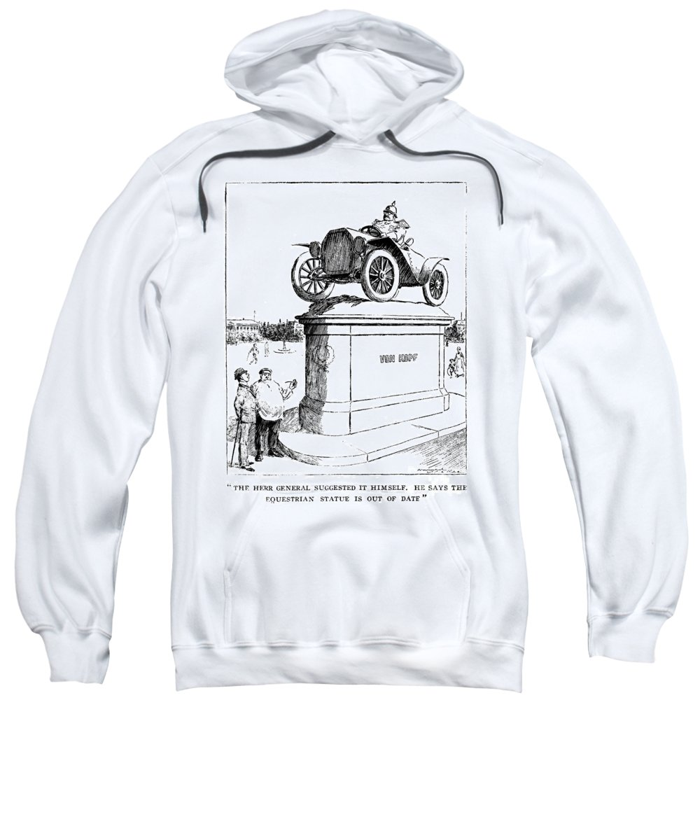 1914 Sweatshirt featuring the photograph Automobile Cartoon, 1914 by Granger