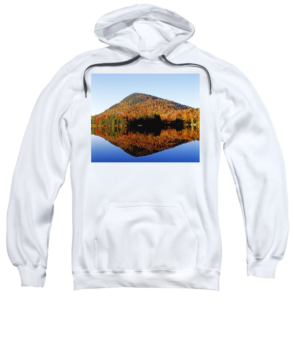 Autumn Colors Sweatshirt featuring the photograph Autumn Colours Reflected In Water by David Chapman
