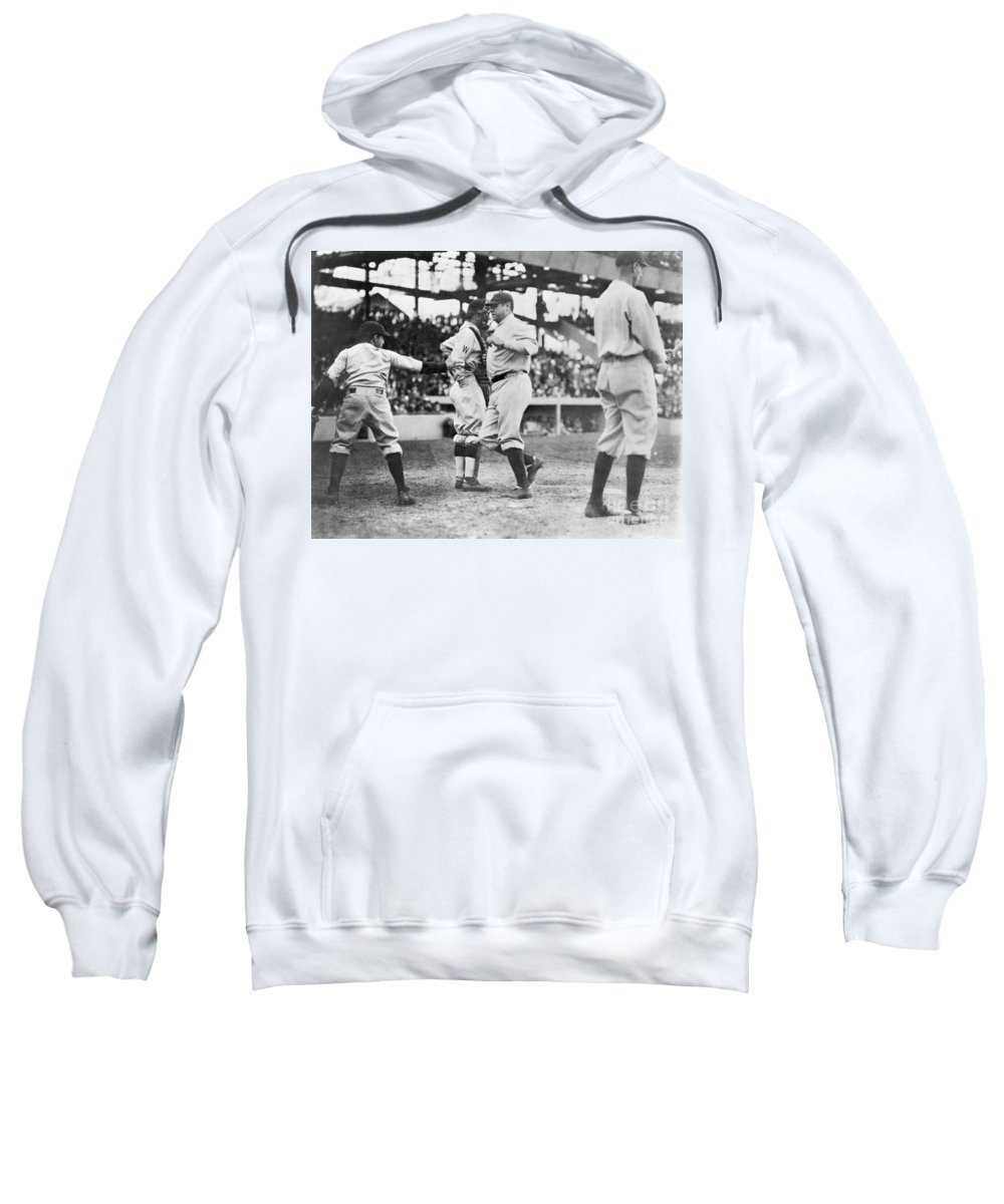 1924 Sweatshirt featuring the photograph Babe Ruth (1895-1948) by Granger