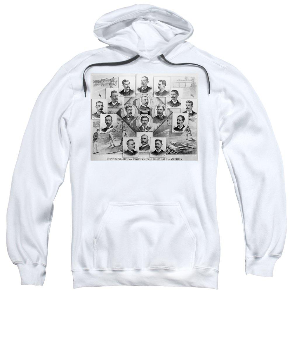 1894 Sweatshirt featuring the photograph Baseball, 1894 by Granger