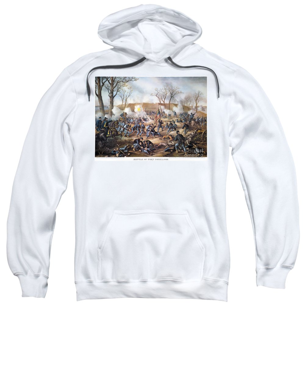 1862 Sweatshirt featuring the photograph Battle Of Fort Donelson by Granger