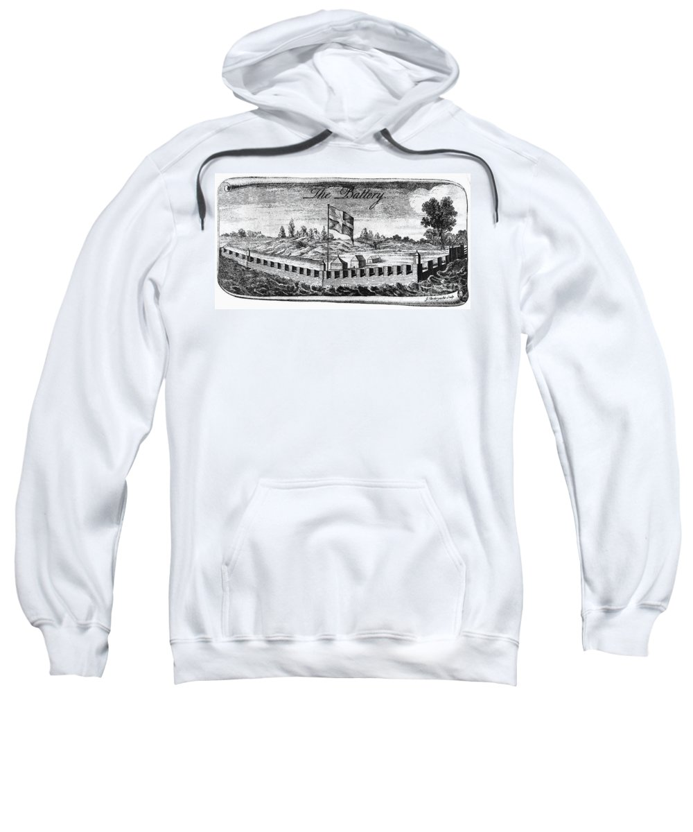 18th Century Sweatshirt featuring the photograph Benjamin Franklin: Battery by Granger