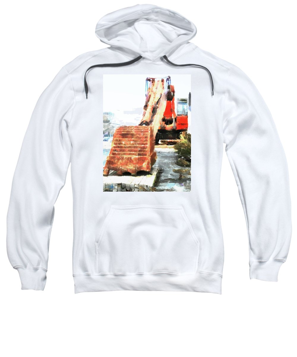 Smith Sweatshirt featuring the photograph Big Red by Steve Taylor