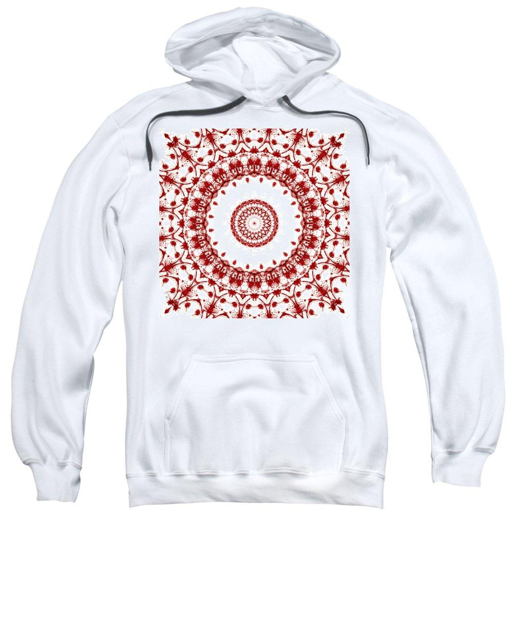 Blood Sweatshirt featuring the digital art Blood Everywhere by Adam Vance