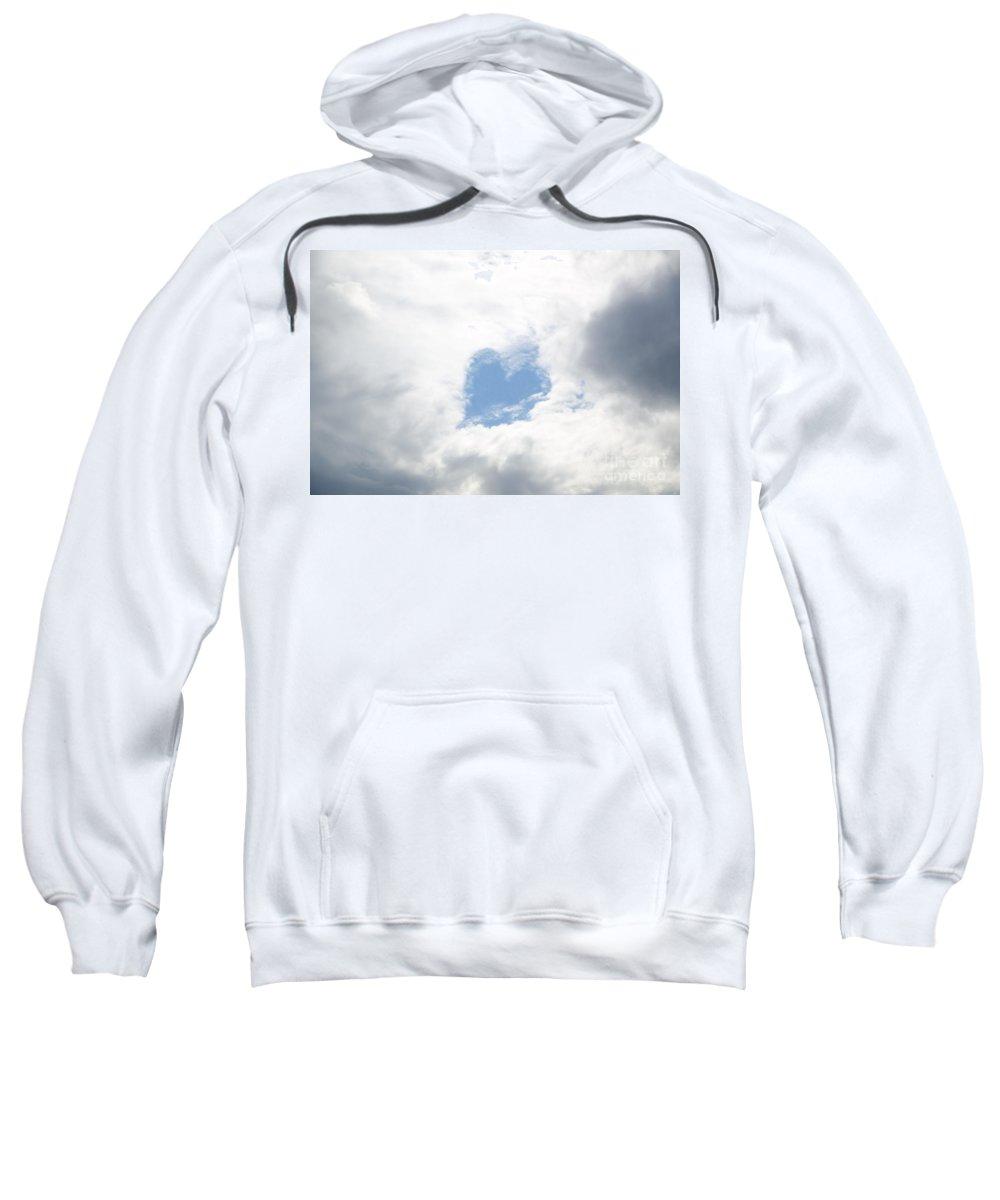 Heart Sweatshirt featuring the photograph Blue Heart In Sky by Mats Silvan