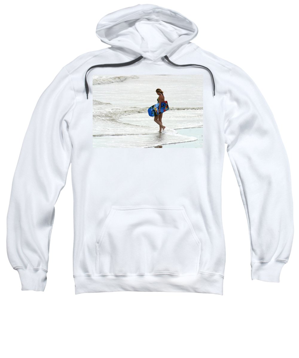 Gary Gingrich Sweatshirt featuring the photograph Boogie Board 0669b by Gary Gingrich Galleries