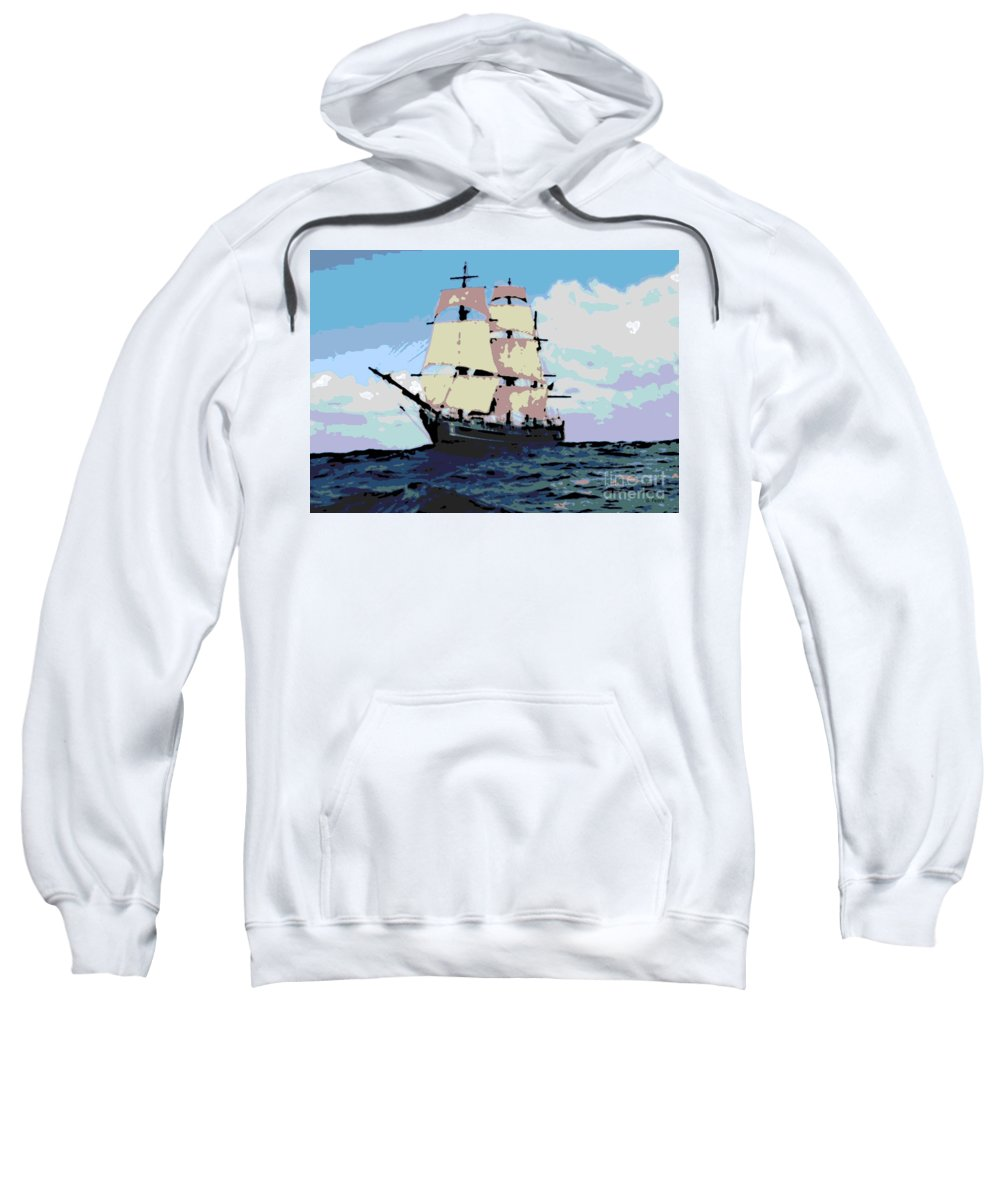 Boat Sweatshirt featuring the photograph Bounty by George Pedro