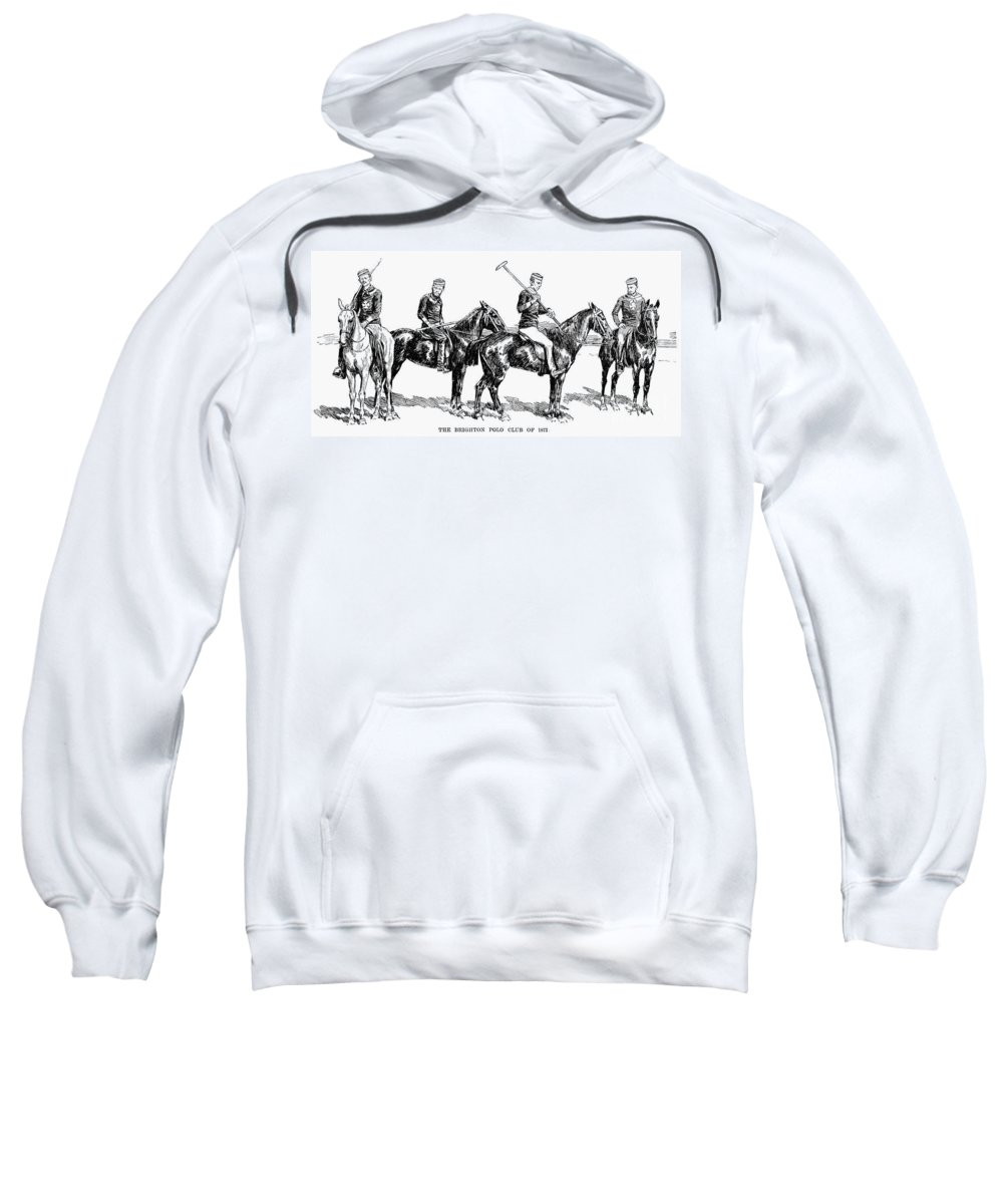 1877 Sweatshirt featuring the photograph Brighton Polo Club, 1877 by Granger