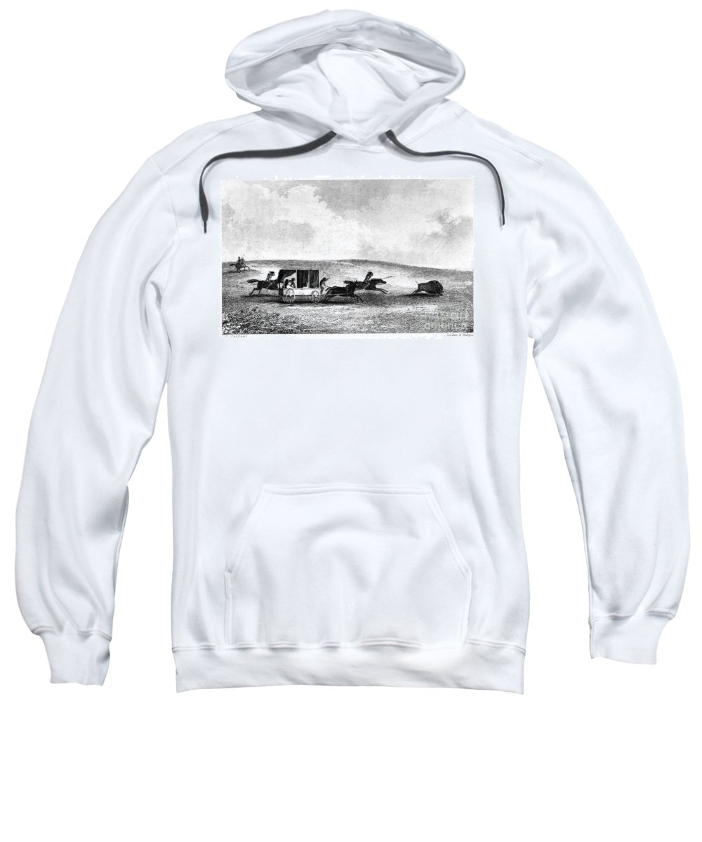 1841 Sweatshirt featuring the photograph Buffalo Hunt, 1841 by Granger