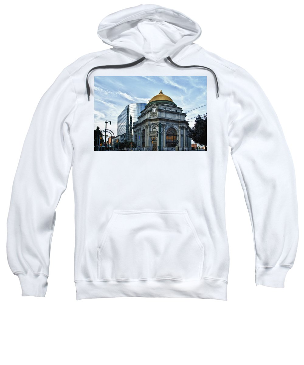 Architecture Sweatshirt featuring the photograph Buffalo Savings Bank 11415 by Guy Whiteley