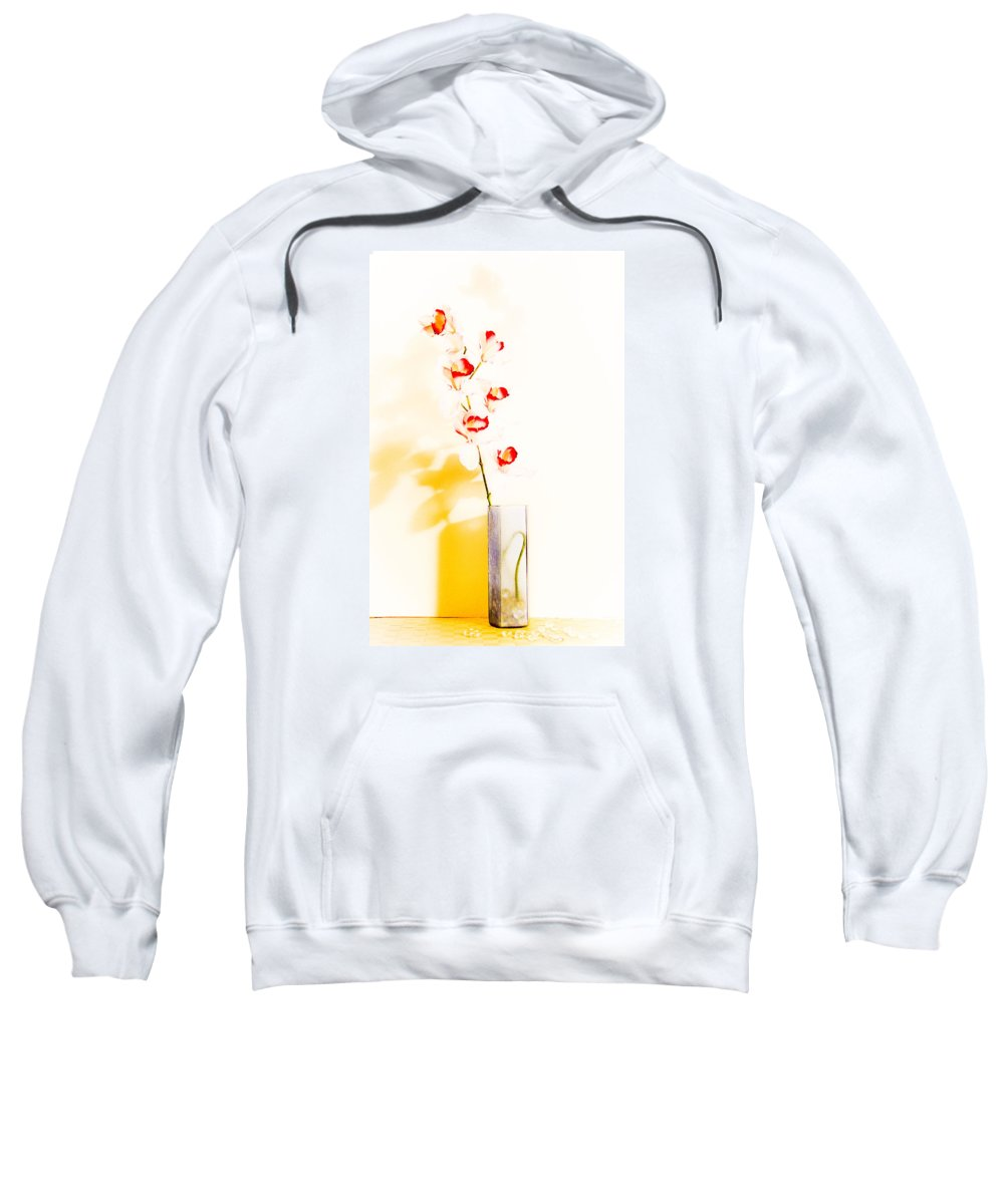 Flowers Sweatshirt featuring the photograph By The Window by Shani Soils
