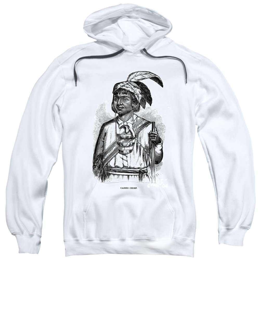 1879 Sweatshirt featuring the photograph Caddo Chief, 1879 by Granger
