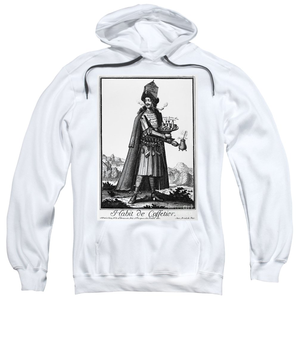 1690 Sweatshirt featuring the photograph Cafe Owner, C1690 by Granger