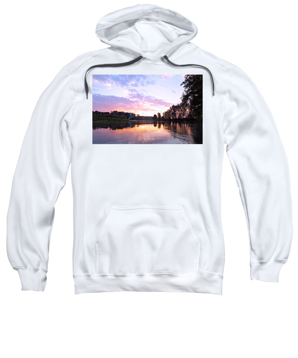 Landscape Sweatshirt featuring the photograph Camp Fire Sunset by Paul Fell