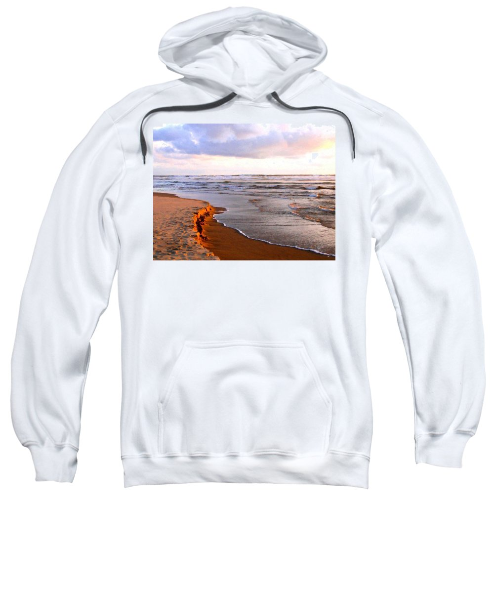 Cannon Beach Sweatshirt featuring the digital art Cannon Beach Painting by Will Borden