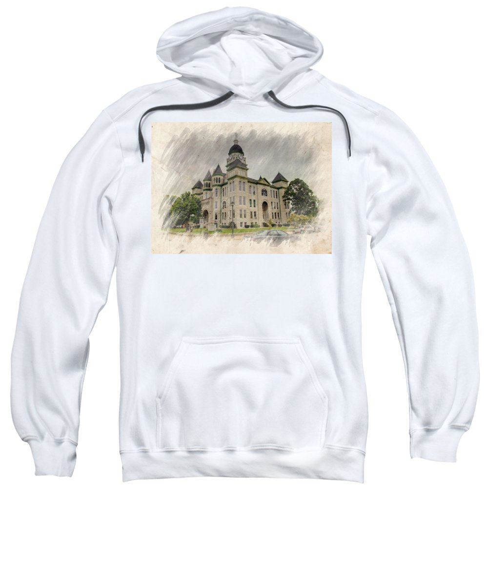 Architecture Sweatshirt featuring the photograph Carthage Courthouse by Ricky Barnard