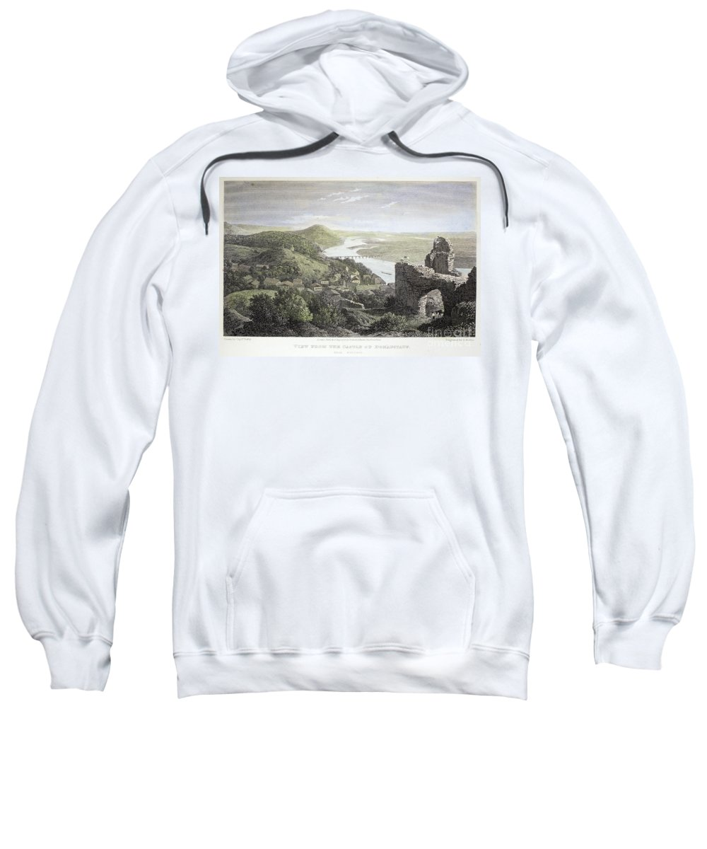 1823 Sweatshirt featuring the photograph Castle Donaustauf, 1823 by Granger