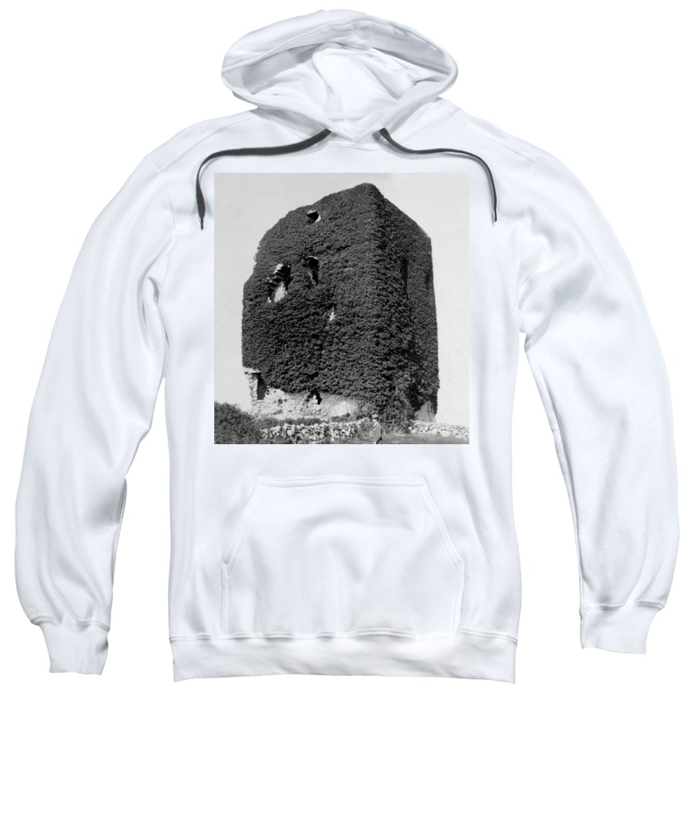 galway Ireland Sweatshirt featuring the photograph Castle Of The O Briens - Ruins - Near Galway Ireland - C 1901 by International Images