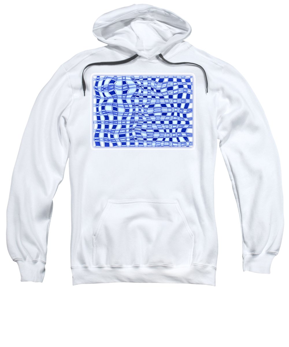 Abstract Sweatshirt featuring the photograph Catch A Wave - Blue Abstract by Carol Groenen