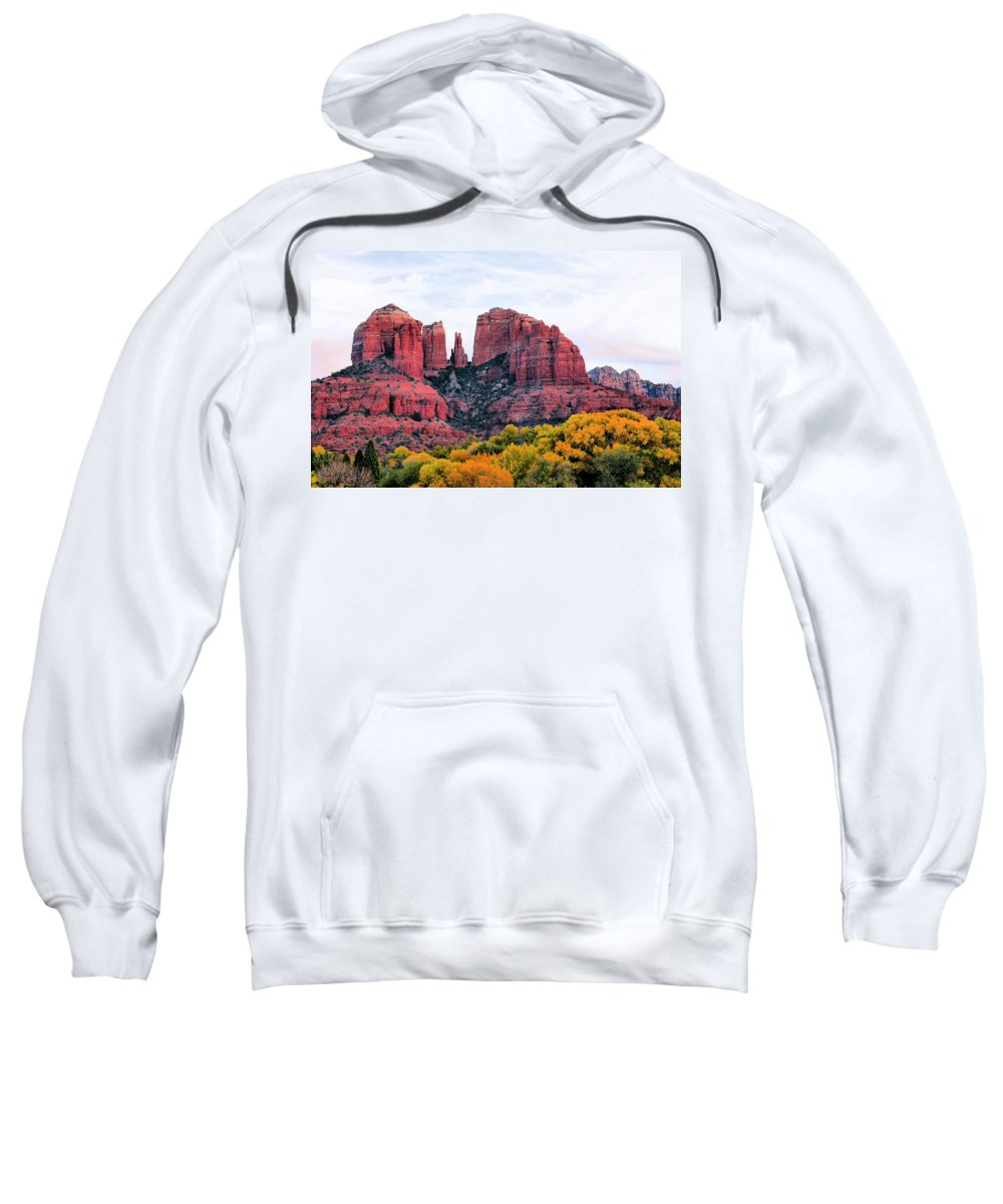 Cathedral Rock Sweatshirt featuring the photograph Cathedral Rock by Kristin Elmquist
